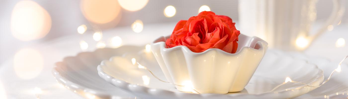 Hochzeitsdeko Shop - Hochzeitstischdekoration und festliche Tischdekoration mit IB Laursen Mynte Teller, Becher und Kanne in weiß