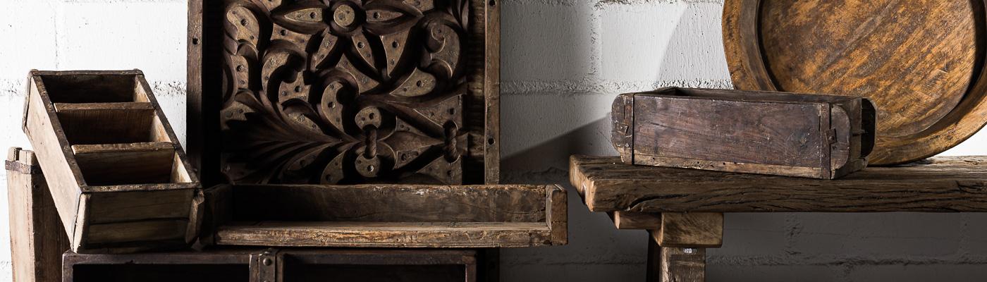 IB Laursen Shop Unika Serie - Ziegelformen Tabletts Stuckformen Bänke und andere Dekoobjekte - rustikale Unikate aus Holz - online bestellen