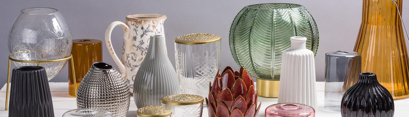 Vasen und Blumenvasen Shop - Dekoration aus Glas Porzellan und Keramik Modern Design - große Auswahl