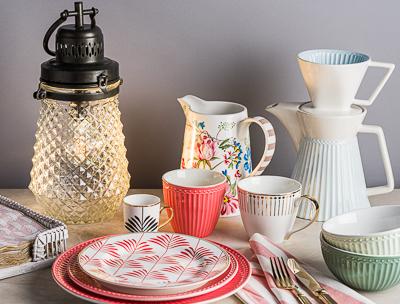 Greengate Geschirr und Dekoration Alice Teller Becher Krüge Schalen und Laternen viele Serien, online bestellen bei Wohnhaus Welten