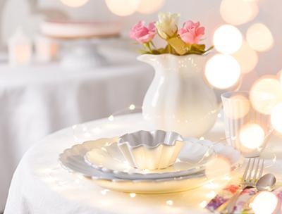 Hochzeitsdeko Hochzeitstischdekoration und festliche Tischdekoration, online bestellen bei Wohnhaus Welten