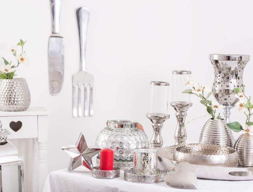 Deko in Silber Online bestellen bei Wohnhaus Welten