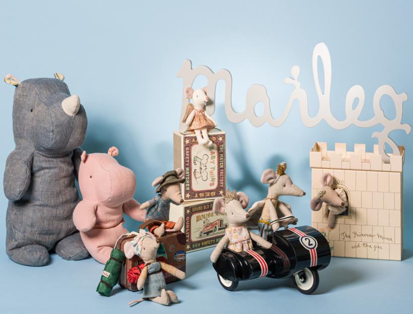 Maileg Shop Kategorie - Rhinos Wander Mäuse Prinzessin Maus Schutzengel und Roller aus Metall - zum Sammeln und schenken